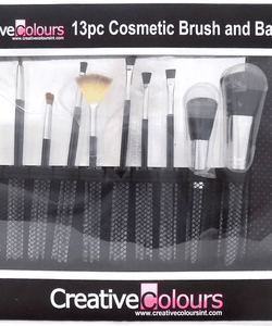 Creative Colours 13pc Cosmetic Brush and Bag Set