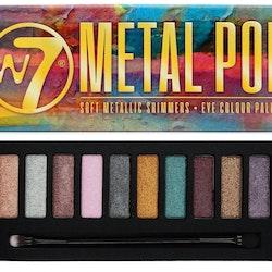 W7 Metal Pop Metallic Shimmer Eyeshadow Palette