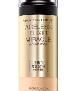 Max Factor Ageless Elixir 2 in 1 Foundation + Serum - Porcelain SPF 15 30ml