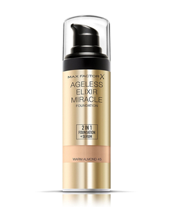 Max Factor Ageless Elixir 2 in 1 Foundation + Serum SPF 15 - 45 Warm Almond