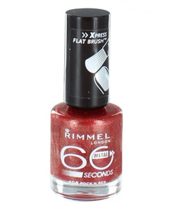 Rimmel 60 Seconds Nail Polish-408 Rock N Red