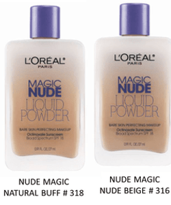 L'Oreal Nude Liquid Bare Skin Perfecting Makeup SPF18-Soft Sable