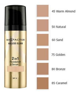 Max Factor Ageless Elixir 2 in 1 Foundation + Serum SPF 15 - 85 Caramel