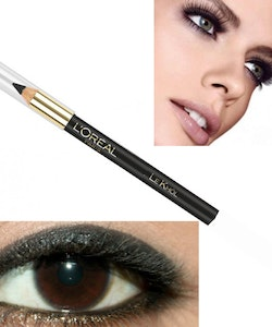 L'Oreal Le Khol Superliner Eye Liner Pencil-Midnight Black