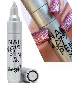 Barry M. Vegan-Friendly Nail Art Pen-Silver