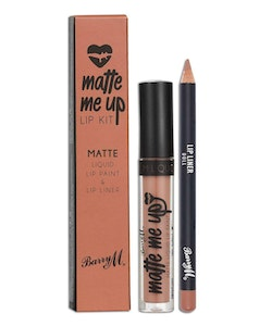 Barry M Veganfriendly Gloss Matte Me Up Lip Paint Kit-Doll