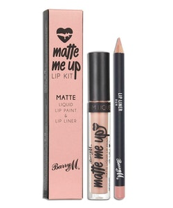 Barry M Veganfriendly Gloss Matte Me Up Lip Paint Kit-Hun