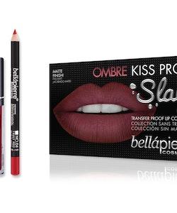 Bellapierre Ombre Kiss Liquid Lipstick Kit - 40's Red & Nude