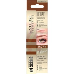 Eveline Art Scenic Brow Corrector 3 in 1 - Brown