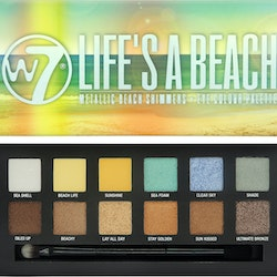 W7 Lifes a Beach Metallic Beach Shimmers 12 Eye Shadow Palette