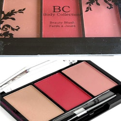 Body Collection Trio Blush Palette-Nude Pink + Dark Peach Pink+Rose Pink