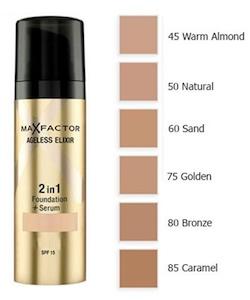 Max Factor Ageless Elixir 2 in 1 Foundation + Serum SPF 15 - 60 Sand
