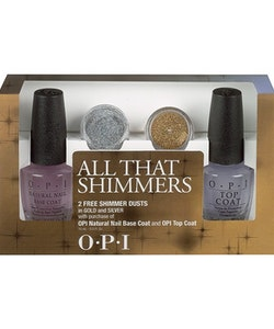 OPI All That Shimmers Set - Base&Top Coat With Gold & Silver Shimmer Dust