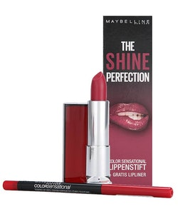 Maybelline The Shine Lip Kits -540Hollywood Red + Lipliner 80 Ruler
