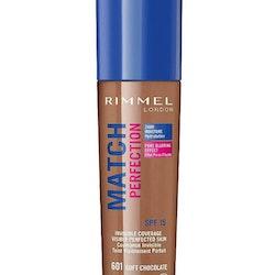 Rimmel Match Perfection Foundation-601 Soft Chocolate