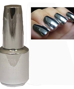 London Girl MIRROR CHROME Metal Gel Large Polish-04 Silver Chrome