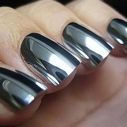 London Girl MIRROR CHROME Gel Large Polish- Silver Chrome