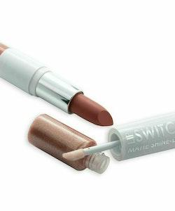 MUA Lip Switch Matte Shine Duo Lipstick Lip Gloss -Brown Bay