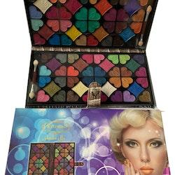 Kiss Rose Professional 80 Makhmali/Velvet Glitter Pearl Eyeshadow