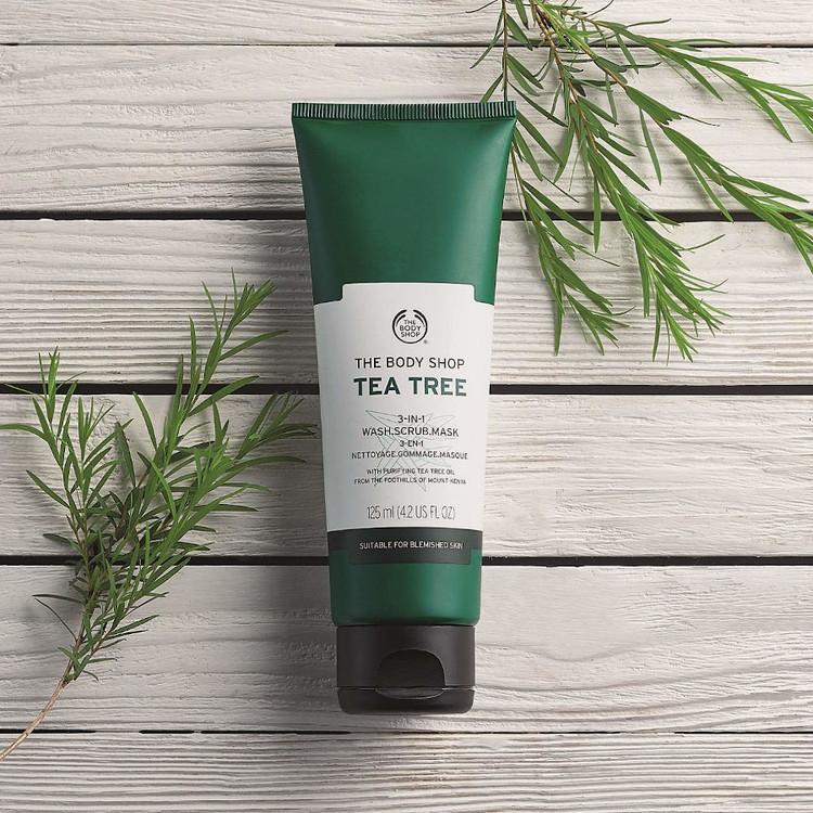 The Body Shop Tea Tree 3-in-1 Wash Scrub Mask - 125ml