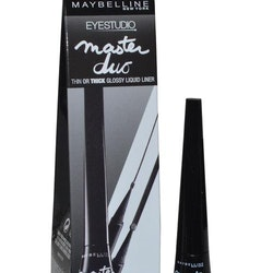 Maybelline Master Duo 2-in-1 Glossy Liquid EyelinerMaybelline Master Duo 2-in-1 Glossy Liquid Eyeliner Thin or Thick-Black-Black