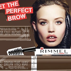2st Rimmel Brow This Way Brow Styling Gel with Argan Oil-Dark Brown