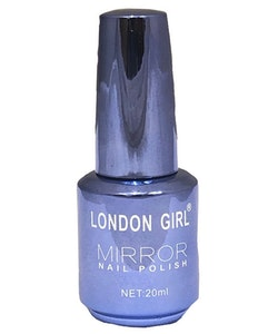 London Girl MIRROR CHROME Metal Gel Large Polish-08 Blue Lavender Chrome