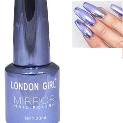 London Girl MIRROR CHROME Gel Large Polish-Blue Lavender Chrome