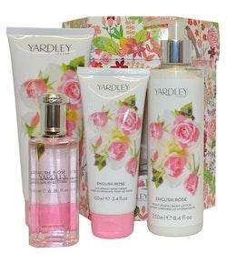 Yardley English Rose Eau de Toilette Gift Set 4PCS