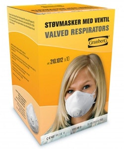 10st Granberg Face Mask Valved Respirators FFP2