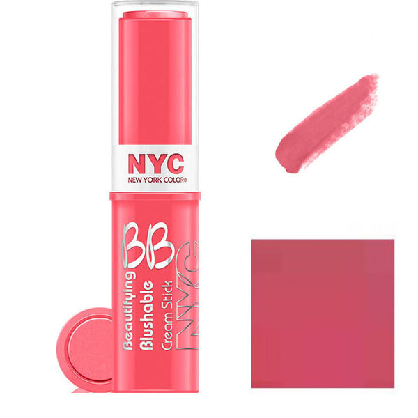 NYC BB Cream To Powder Blush Stick- 002 Never Sleeping Pink