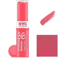 NYC BB Cream To Powder Blush Stick- 002 Never Sleeping Pink