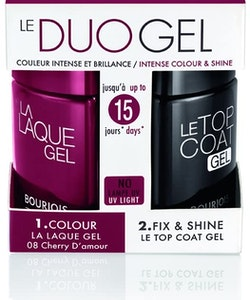 Bourjois 2-Step DUO Gel Polish Kit-Cherry D'Amour & Top coat