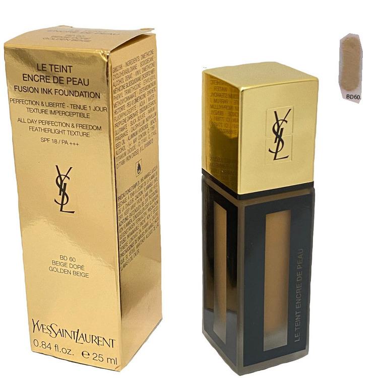 Yves Saint Laurent Fusion Ink Foundation SPF18-BD 60 Golden Beige