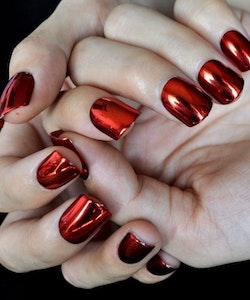 London Girl MIRROR CHROME Gel Large Polish-02 Red Chrome