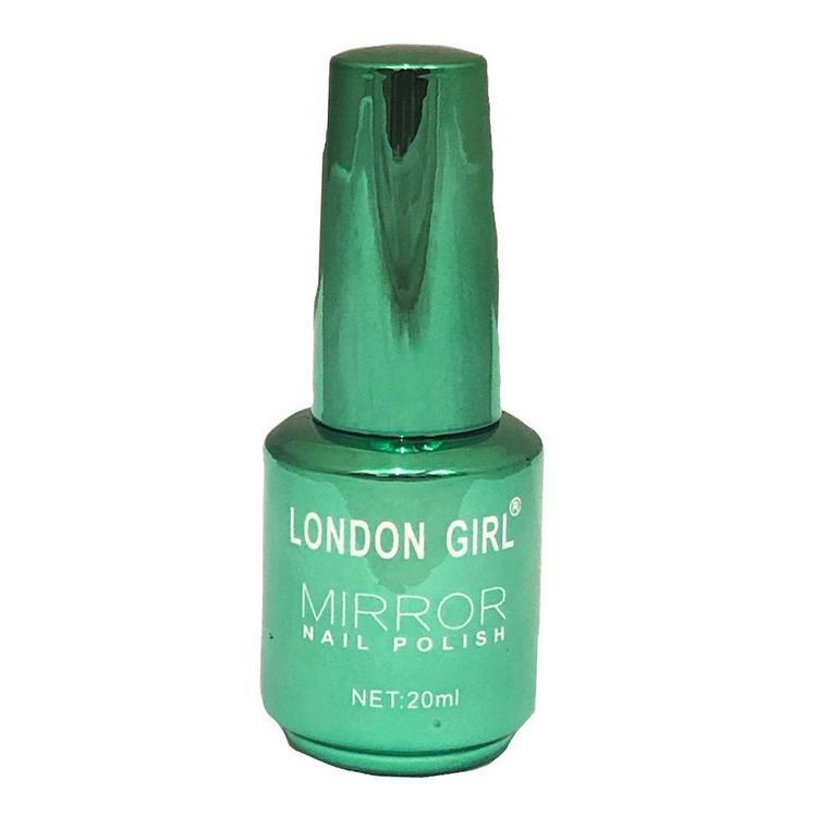 London Girl MIRROR CHROME Large Polish-Green Chrome