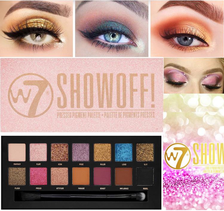 W7 2020 Autumn SHOW OFF! Pressed Pigment Palette