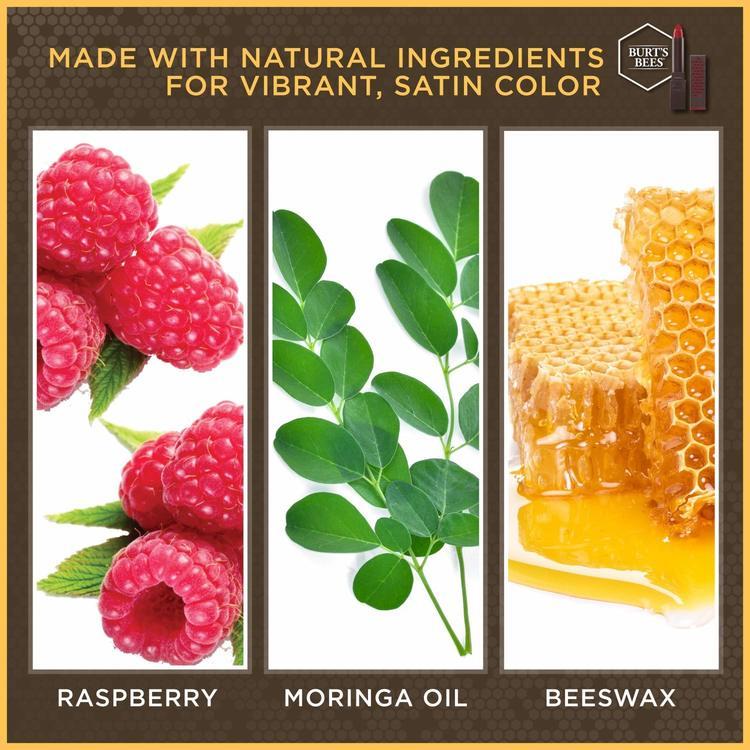 Burt's Bees 100% Natural Moisturizing Satin Lipstick - 514 Brimming Berry