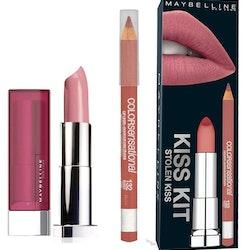 Maybelline Stolen Kiss Kits - Smokey Rose Lipstick + Lip Liner Sweet Pink
