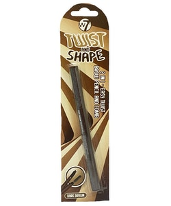W7 2 in 1 Twist and Shape Brow Pencil - Dark Brown