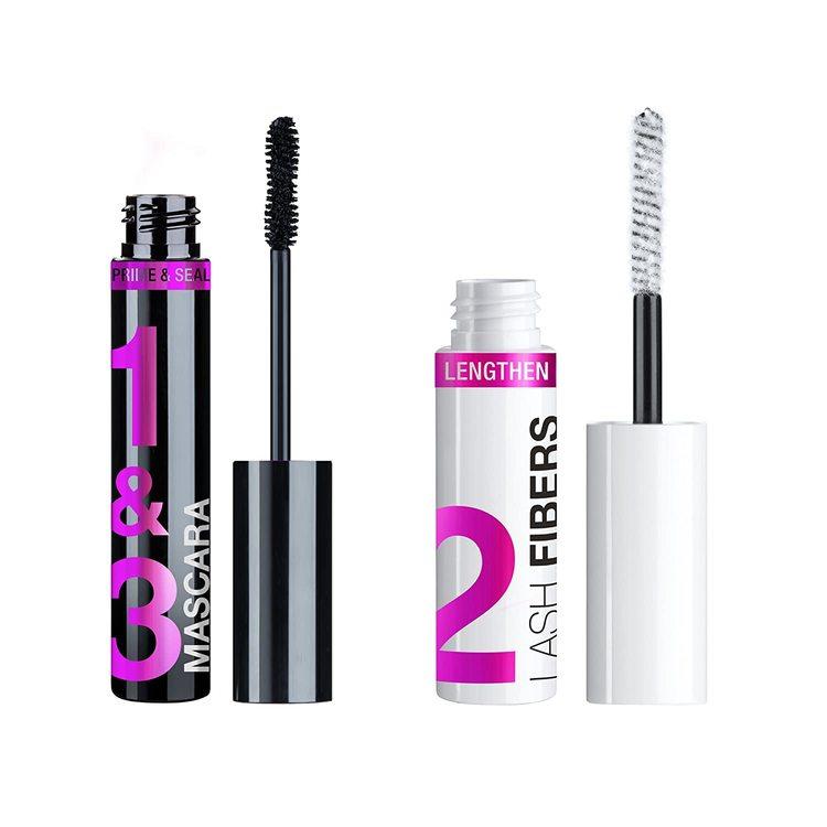 Wet n Wild Lash-O-Matic Mascara + Fiber Extension Kit-Very Black