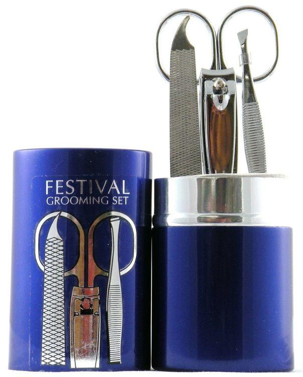 Sally Hansen La Cross Festival Grooming Set - 4 Pc Set + Blue Case