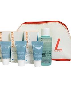 Lancaster Skin Life 4Pc Set- Eye Cream, Primer Day Cream, Cleanser