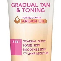 Rimmel Sun Shimmer Gradual Tan and Toning 4in1 Lotion with Argan Oil