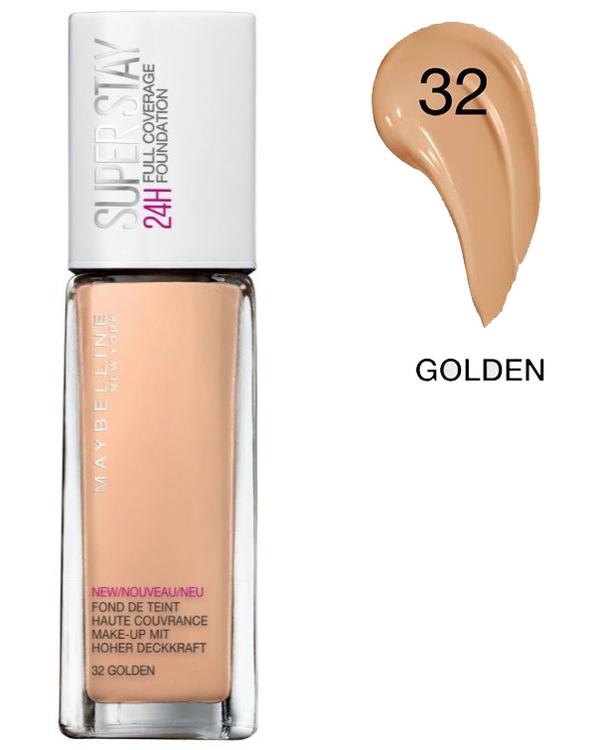 Maybelline SuperStay 24H Full Coverage Foundation - Golden