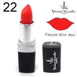 Vivien Kondor Vegan Friendly Cruelty Free Matte Lipstick-22 Frosted wine