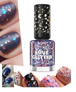 Rimmel London Love Glitter Nail Polish - 032 All Glittered Up
