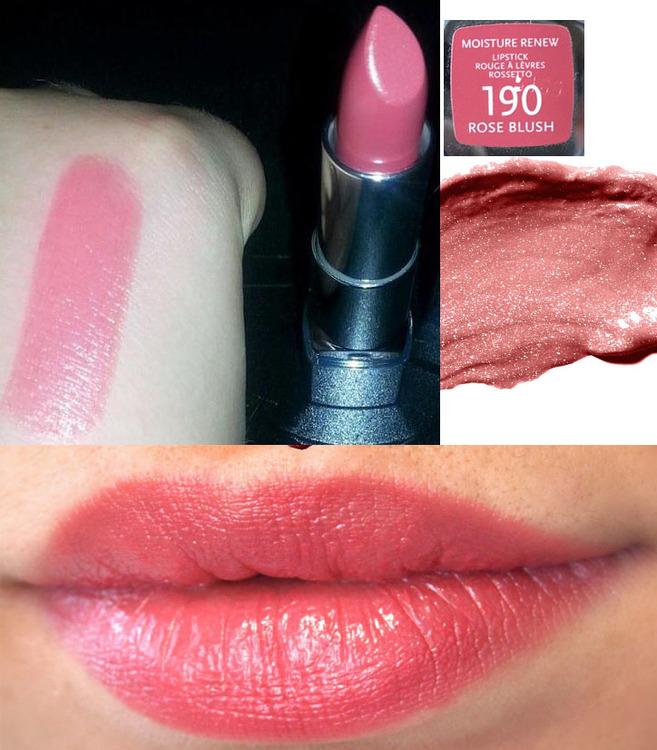 Rimmel Moisture Renew Lipstick-Rose Blush