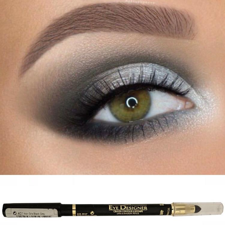 L'Oreal Eye Designer Line & Shadow Pencil-Black Grey