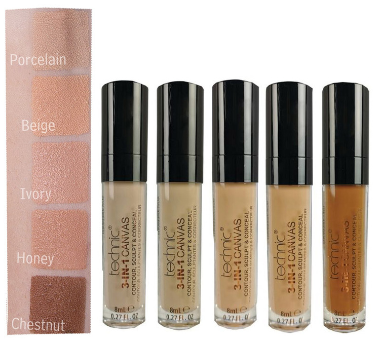 Technic 3-in-1 Canvas Full Coverage Concealer-Ivory